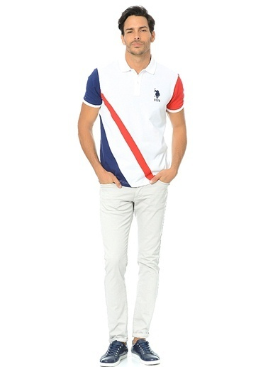 U.S. Polo Assn. Polo Yaka Tişört Beyaz